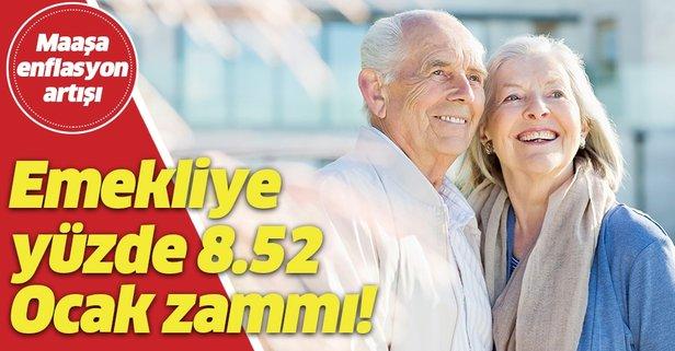 Emekliye yüzde 8.52 zam