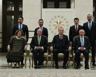 Başkan Erdoğan'ın kabulünde dikkat çeken II. Abdülhamit detayı