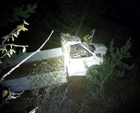 Kamyonet uçuruma düştü: 2 ölü, 1 yaralı