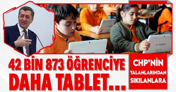 42 bin 873 öğrenciye daha tablet bilgisayar...