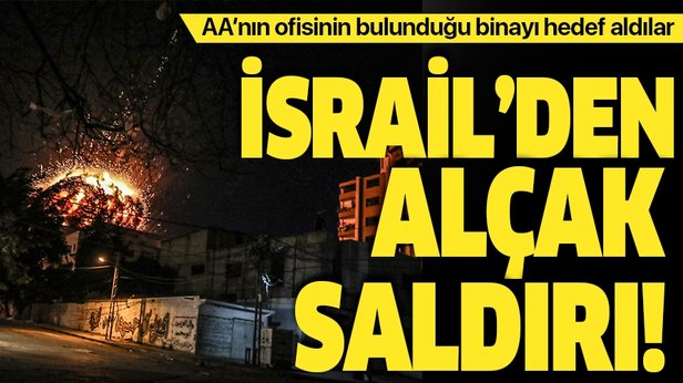 İsrail ordusu Gazze'de AA'nın ofisinin de bulunduğu binayı vurdu. ile ilgili görsel sonucu