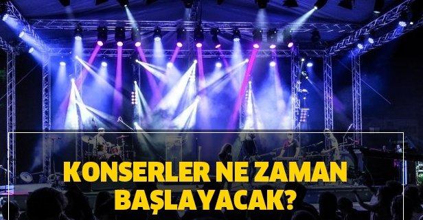 Konserler ne zaman başlayacak? 2020 konserlerde alınacak önlemler neler?