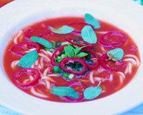 Makarnalı Domates Çorbası Tarifi
