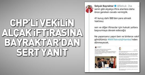 CHP'li Ağbaba'nın İBB iftirasına Bayraktar'dan sert yanıt