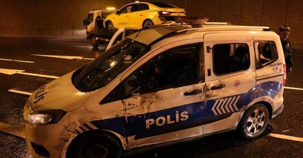İstanbul'da polis-taksici kovalamacasında kaza
