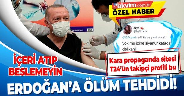 Başkan Erdoğan'a ölüm tehdidi