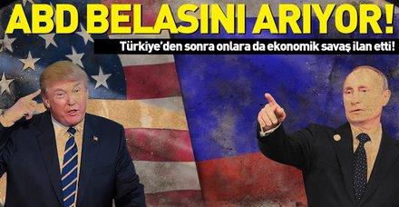 """Rusya'dan ABD'ye sert yanıt! """"Ekonomik savaş ilanı olarak görürüz"""""""