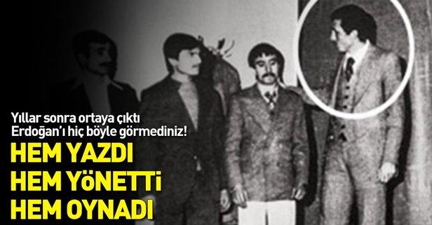 Erdoğan'ın tiyatro sahnesinden hiç bilinmeyen fotoğrafları ortaya çıktı