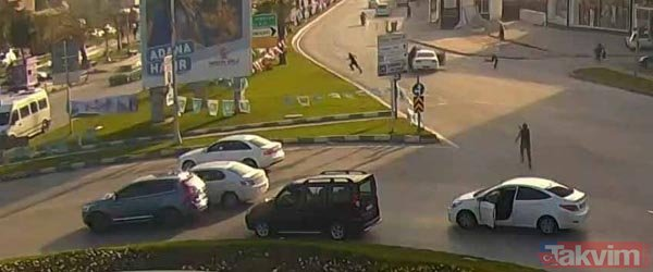 Adana'da polisten nefes kesen operasyon! Aracın üzerine atladı