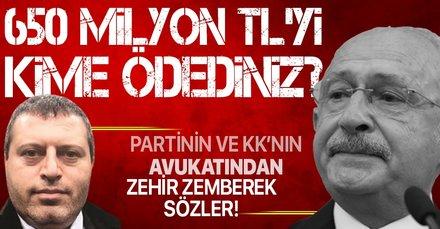 CHP'nin istifa eden avukatından zor soru: 650 milyon TL'yi kime verdiniz?