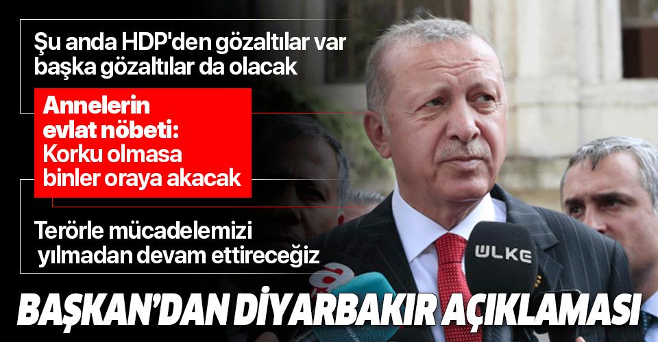 Son dakika: Başkan Erdoğan'dan Diyarbakır'daki alçak saldırıyla ilgili önemli açıklamalar