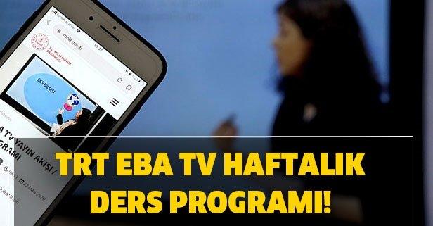 TRT EBA TV ilkokul, ortaokul lise ders programı!