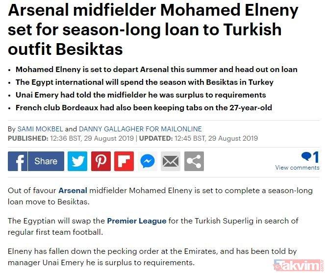 Beşiktaş'tan sürpriz transfer! Arsenal'in yıldızı geliyor