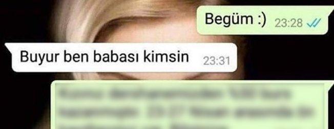 WhatsApp'taki mesaja sevgilisinin babası cevap verince...