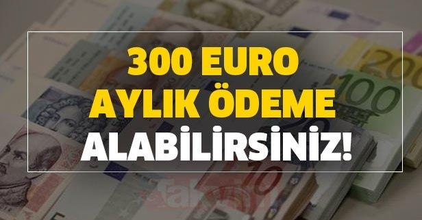 300 Euro aylık ödeme alabilirsiniz!
