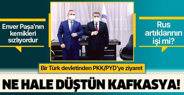 Özbekistan'dan terör örgütü PYD/YPG'ye ziyaret