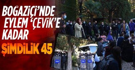 Boğaziçi Üniversitesi'ndeki gösteride 45 kişi gözaltında