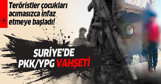 PKK/YPG çocukları acımasızca infaz etmeye başladı