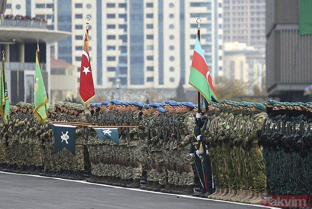 Son dakika: Karabağ zaferini kutladı! Başkan Erdoğan ve Aliyev düşmanlara bu sözlerle meydan okudu