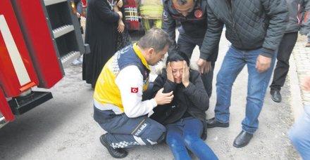İstanbul'da eşi tarafından terk edilen koca, evi ateşe verdi