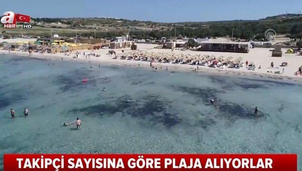 Bodrum ve Çeşme'de tepki çeken uygulama! Takipçi sayısına göre plaja alıyorlar (Video)