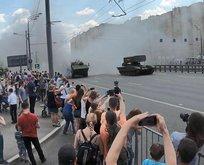 Rusya'da son teknoloji tankın arızası...