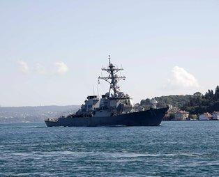 ABD savaş gemisi USS Ross İstanbul Boğazı'ndan geçti