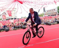 Muharrem İncenin uçan bisikleti!
