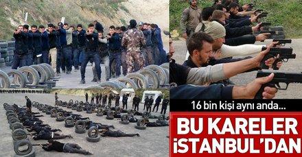 Görüntüler İstanbul'dan! 16 bin polis ve bekçi komando eğitimi aldı