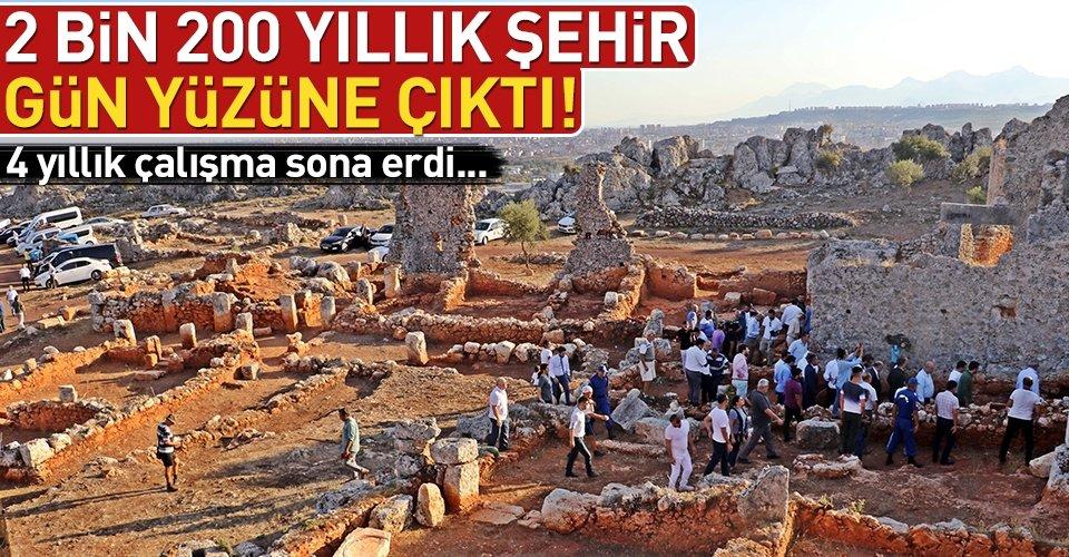 2 bin 200 yıllık şehir gün yüzüne çıkarıldı