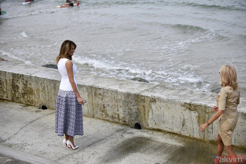 Melania Trump'ın G7 stili gündem yarattı! G7 Zirvesi'ne damga vuran kareler