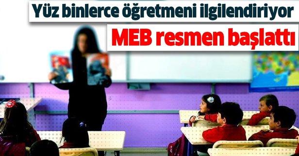 MEB resmen başlattı! Yüz binlerce öğretmeni ilgilendiriyor