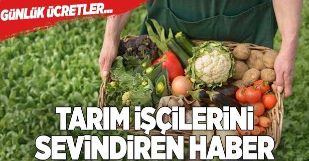 Tarım işçilerine müjdeli haber