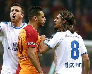 Belhanda'dan Pinto'ya tükürük