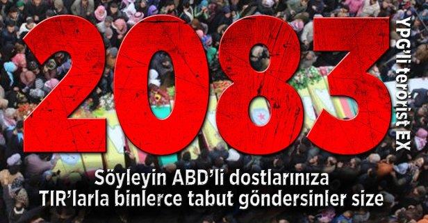İşte Afrinde öldürülen YPGli terörist sayısı