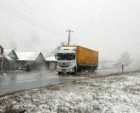 Kar yağışı İstanbul'a dayandı