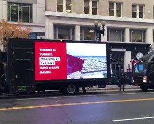Washington sokaklarında dikkat çeken görüntü