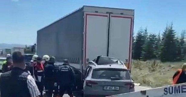 Ankara'da bir aileyi yok eden kaza!