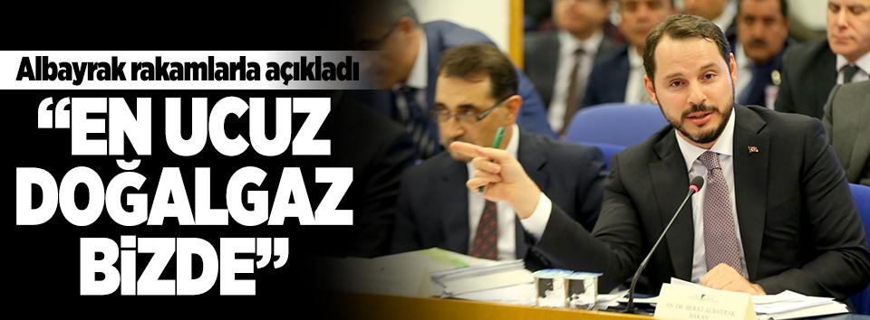 Albayrak: En ucuz doğalgaz Türkiyede