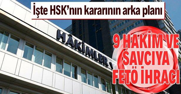 HSK, 9 hakim ve savcıyı ihraç etti