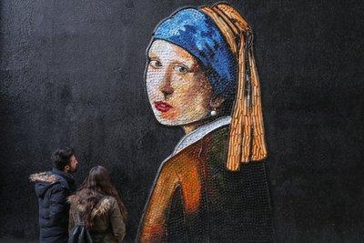 Çöplerin dönüştüğü muhteşem sanat