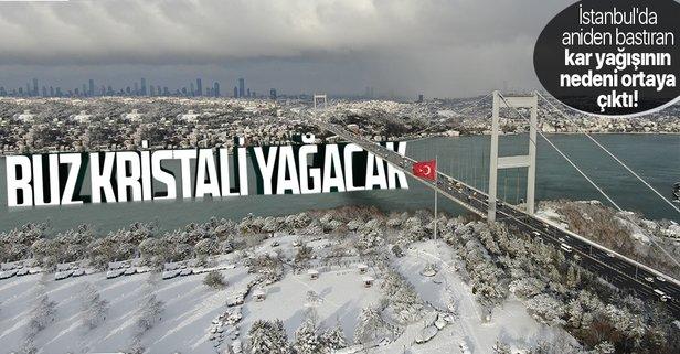 İstanbul'da aniden bastıran kar yağışının sebebi ortaya çıktı