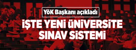 Üniversiteye giriş sistemi hakkında yeni gelişme