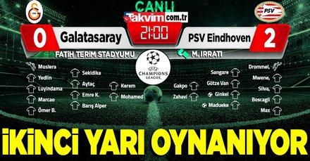 Galatasaray-PSV canlı anlatım izle!