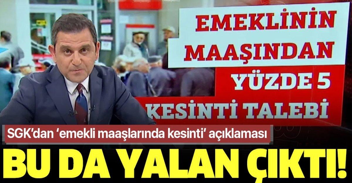 Fatih Portakal'ın emekli maaşlarından kesinti haberi yalan çıktı ...