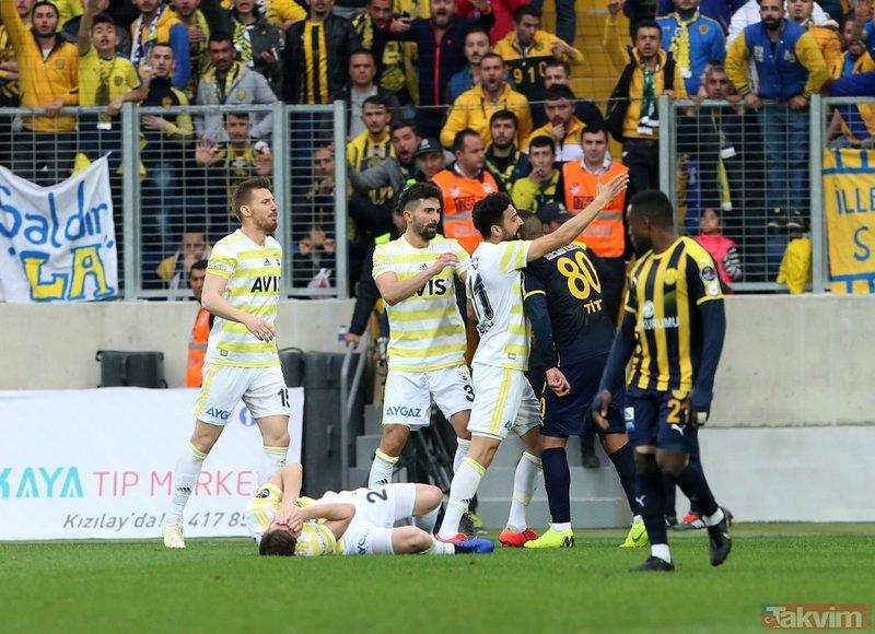 Fenerbahçe - Ankaragücü maçında şok kavga! İşte Mehmet Ekici ve Hector Canteros arasındaki gerginliğin görüntüleri