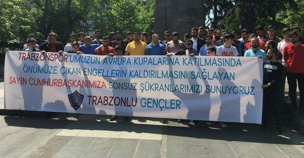 Taraftarlardan Erdoğan'a teşekkür
