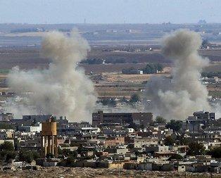 Terör hedefleri obüs atışlarıyla vuruluyor.