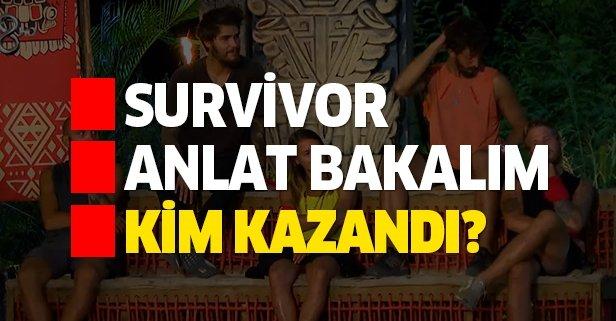 Survivor'da Anlat Bakalım oyununu hangi takım kazandı?