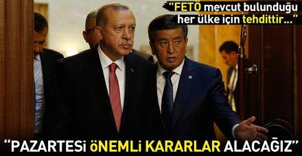 Son dakika: Cumhurbaşkanı Erdoğan'dan Kırgızistan'da önemli açıklamalar